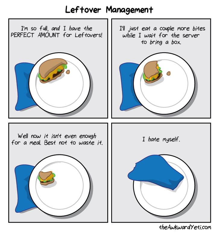 Leftover management Leftover management