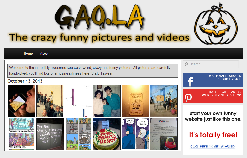 gaola home [Free Theme]Start your own Funny Site with ultrahumor2013