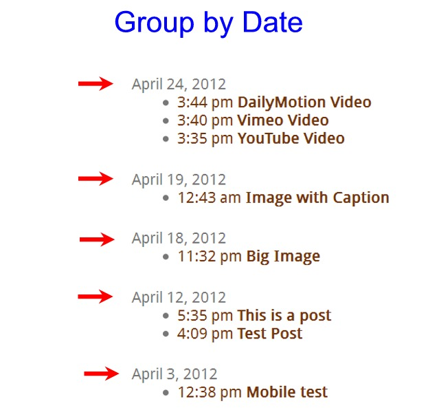 Date time group