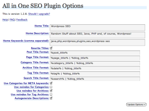 all in one seo pack options 300x224 Top Plugins for Beginners